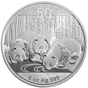 2013版熊猫银质50元图片