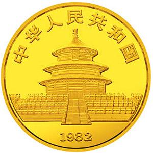 1982版熊猫金质7.087克图片