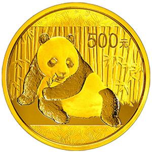 2015版熊猫金质500元图片