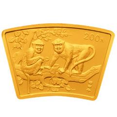 2004中国甲申猴年扇形金质(200元)纪念币