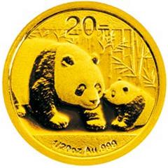 2011版熊猫金质(20元)纪念币