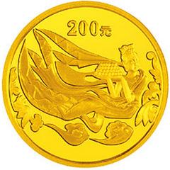 中国石窟艺术龙门金质(200元)纪念币