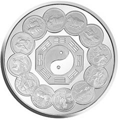 生肖纪念币发行12周年银质纪念币