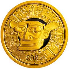 四川三星堆金质纪念币
