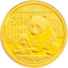 2012版熊猫金质(20元)纪念币
