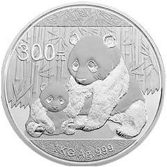 2012版熊猫银质(300元)纪念币