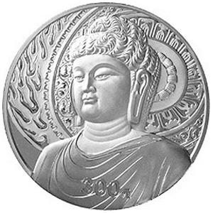 中國石窟藝術龍門銀質300元圖片