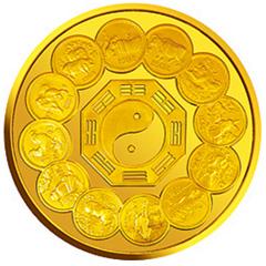 生肖纪念币发行12周年金质纪念币