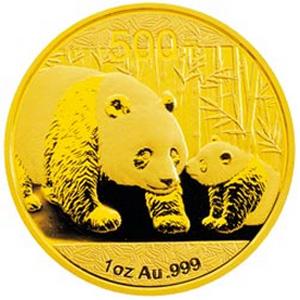 2011版熊猫金质500元图片