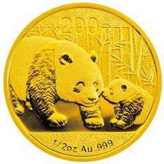 2011版熊猫金质(200元)纪念币