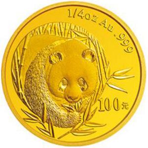 2003版熊猫金质100元图片