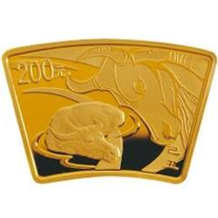 2009中国己丑牛年扇形金质纪念币