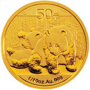 2010版熊猫金质50元图片