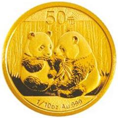 2009版熊猫金质(50元)纪念币