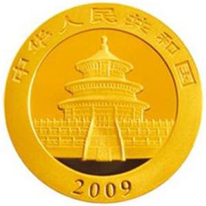 2009版熊猫金质100元图片