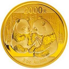 2009版熊猫金质(2000元)纪念币