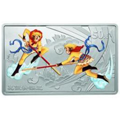 中国古典文学名著西游记长方形彩色(第2组)银质纪念币