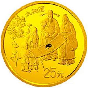 中国古代科技发明发现第2组金质25元图片