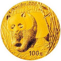 2002版熊猫金质(100元)纪念币