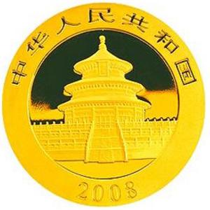 2008版熊猫金质500元图片