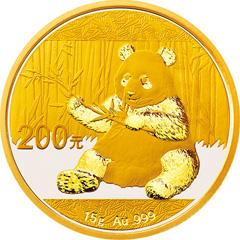 2017版熊貓金質(200元)紀念幣