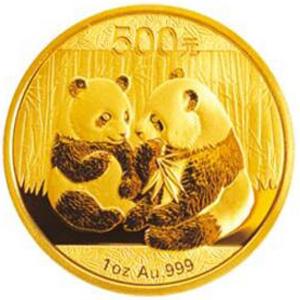 2009版熊貓金質500元圖片