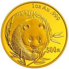2003版熊猫金质(500元)纪念币