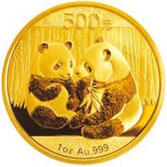 2009版熊猫金质(500元)纪念币