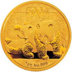 2010版熊猫金质(500元)纪念币