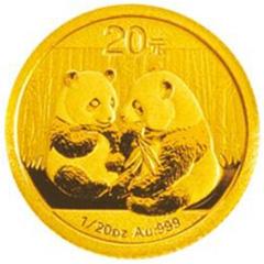 2009版熊猫金质(20元)纪念币