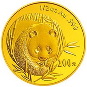 2003版熊猫金质200元图片