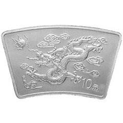 2000中国庚辰龙年扇形银质纪念币