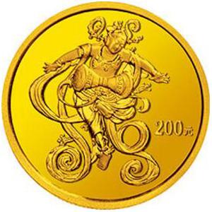 中國石窟藝術敦煌金質200元圖片