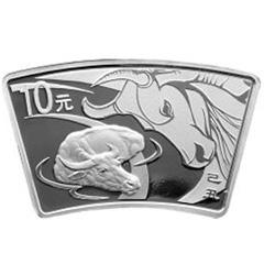 2009中国己丑牛年扇形银质纪念币