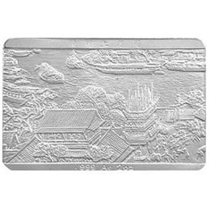 中国古代名画系列清明上河图长方形银质图片