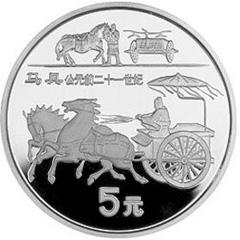 中国古代科技发明发现(第5组)银质纪念币