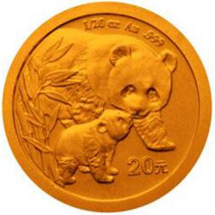 2004版熊猫金质(20元)纪念币
