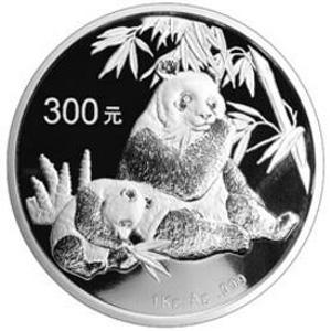 2007版熊貓銀質(300元)紀念幣