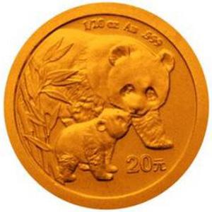 2004版熊猫金质20元图片