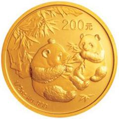 2006版熊猫金质(200元)纪念币