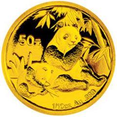 2007版熊猫金质(50元)纪念币
