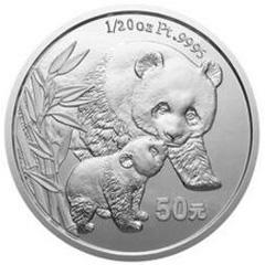 2004版熊猫铂质纪念币