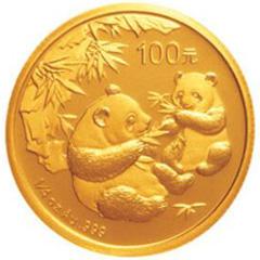 2006版熊猫金质(100元)纪念币