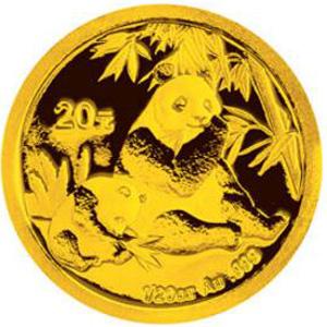 2007版熊猫金质20元图片