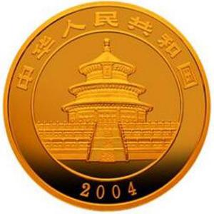 2004版熊猫金质100元图片