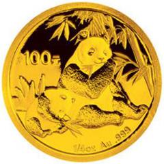 2007版熊猫金质(100元)纪念币