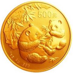 2006版熊猫金质(500元)纪念币
