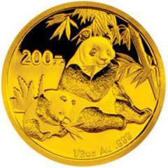 2007版熊貓金質(200元)紀念幣