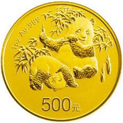 中国熊猫金币发行30周年金质(500元)纪念币