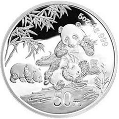 中国熊猫金币发行30周年银质(50元)纪念币
